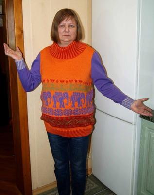 """Фото. Свитер """"Зной"""", машинное вязание.  Автор работы - ealuneva"""