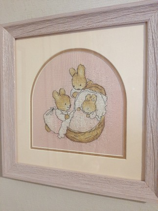 """Фото. Дочка вышила """"Little bunny"""".  Автор работы - Ludinka100"""