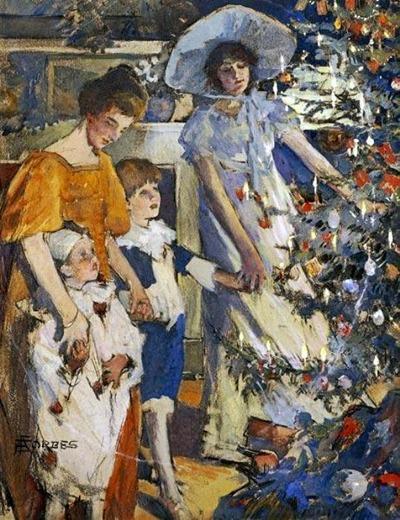 "Фото. ""Рождество"". Elizabeth Adela Stanhope Forbes (1859–1912). 1910 г."