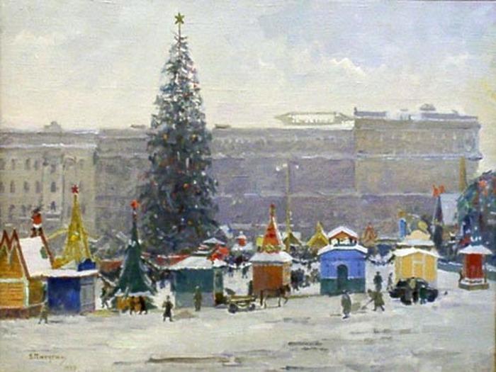 """Фото. """"Пушкинская площадь"""", А. Пичугин,  1947 г."""