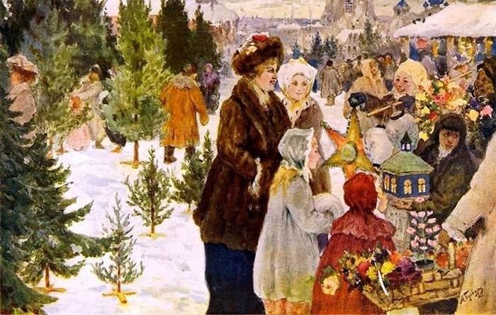 """Фото. """"Рождественский базар"""", Александр Бучкури, 1906 г."""