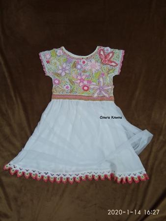 Фото. Платье комбинированного типа, ирландское кружево + ткань.  Автор работы - OlgaFom