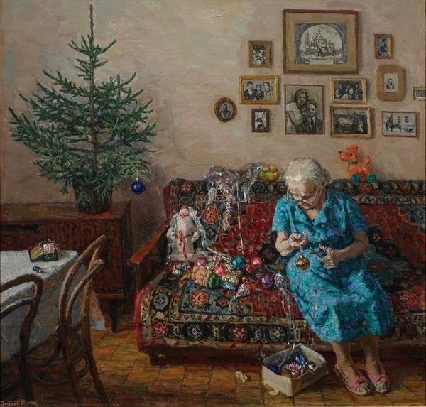 """Фото. Егор  Зайцев (род. 1967) """"Рождественская елка"""", 1996 г."""