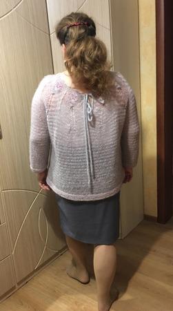 Фото. Вес джемпера 275 г. Давненько себе не вязала...