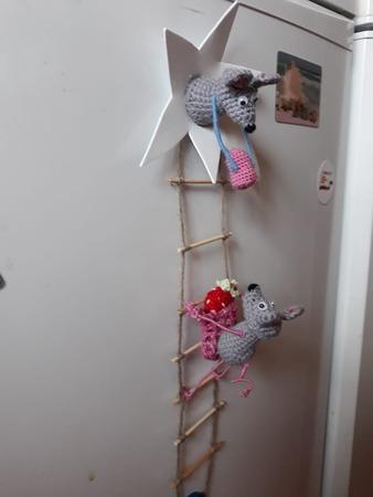 """Фото. Магниты на холодильник """"Мышки-воришки"""" вдохновили многих.  Автор работы - Инчи"""