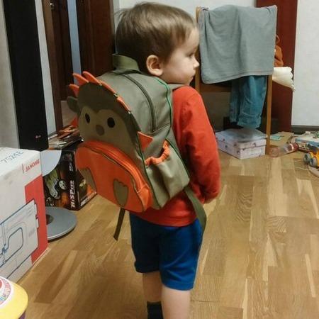 Фото. Рюкзак для сына в виде ежика. Автор работы - izachok