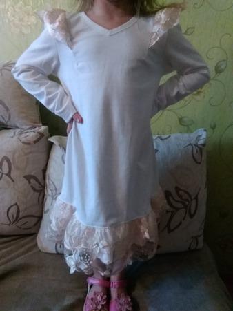 Фото. Платье с рюшами из OTTOBRE. Автор работы - Анна30