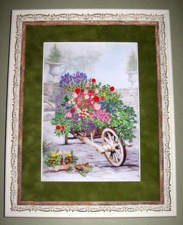 """Фото. """"Цветы в саду"""", по набору фирмы Оланта.  Автор работы - Simfony"""