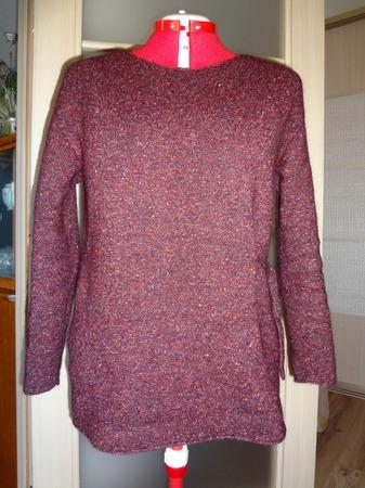 Фото. Пуловер с завязками. Машинное вязание. Автор работы - li_bog