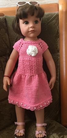Фото. Очаровательное платье для кукольной малышки.  Автор работы - Cathrina