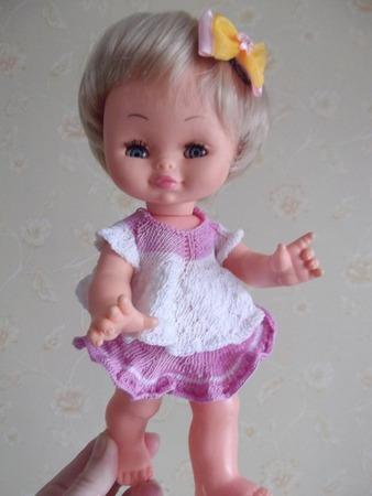 Фото. И еще одно. Хотя говорят, вязать для маленьких кукол сложнее. Автор работы - N@dya