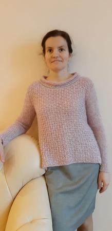 Фото. Розовый свитер из Верены. Автор работы - Trud2010