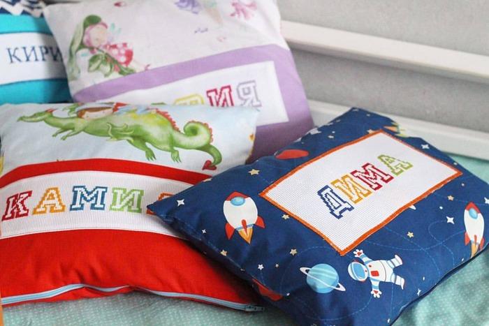 Фото. Именные подушки.  Автор работы - justbee