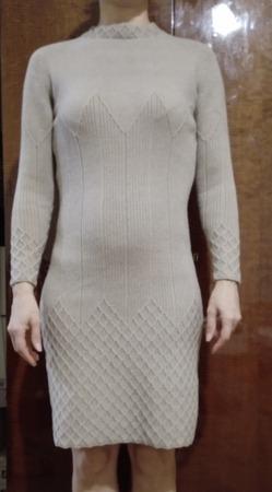 Ромбовый силуэт от Виктории Сикрет - платье спицами
