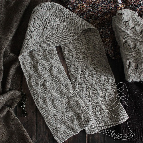 Фото. Двусторонняя шапка-шарф Florentia by Lacelegance из 3-х мотков Firenze от Laines du Nord.  Автор работы - Lacelegance