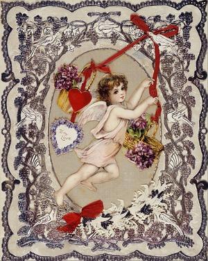 Фото. Валентинка  викторианской эпохи, Англия, 1860-1880 гг. (Лондонский музей), 1500 г.