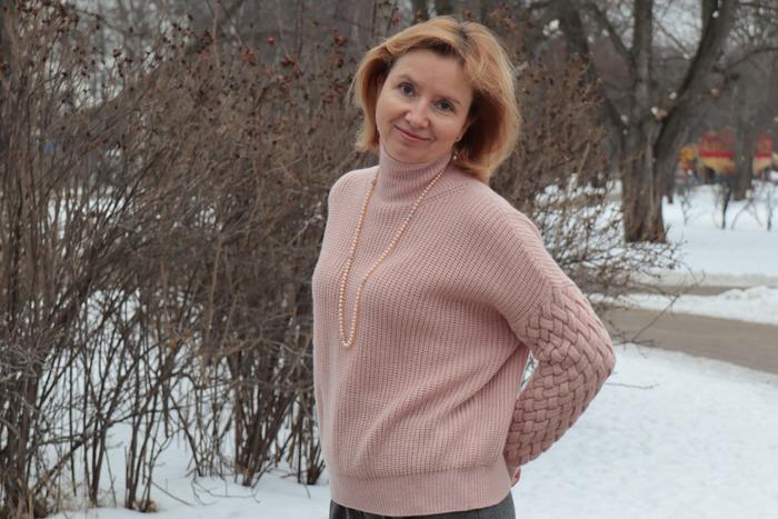 Фото. Пуловер из беби кашемира.   Автор работы - Sogo