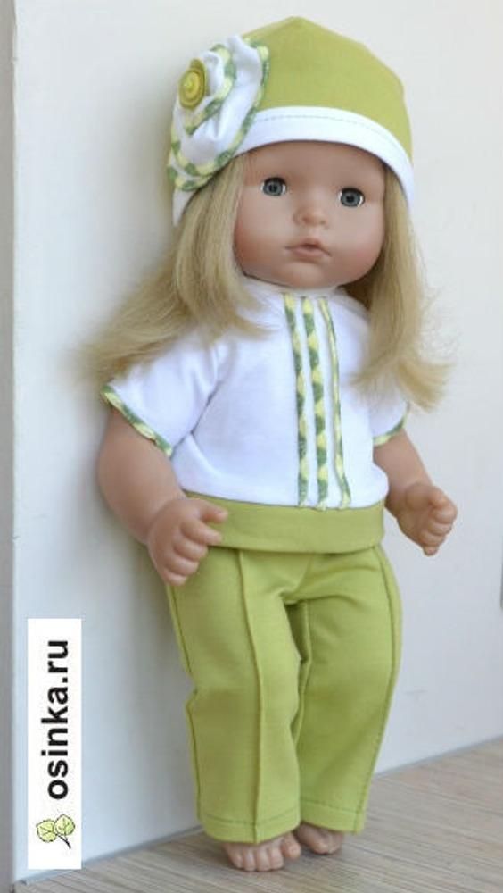 """Фото. Очень часто куклы служат """"испытательным полигоном"""" для отработки каких-то декоративных приемов, а иногда и моделей. В этом случае сначала сшила трикотажные брюки со стрелками кукле."""