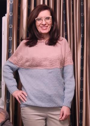 "Фото. Пуловер ""Розовая лагуна"".   Автор работы - Краля"