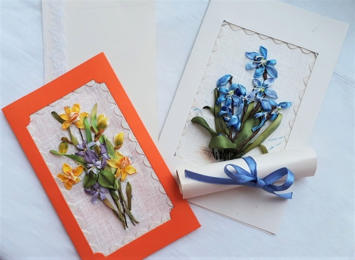 Фото. Вышитые открытки к 8 Марта. Автор работы - talex-55