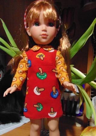 Фото. Платье кукле.  Автор работы - Апраксия