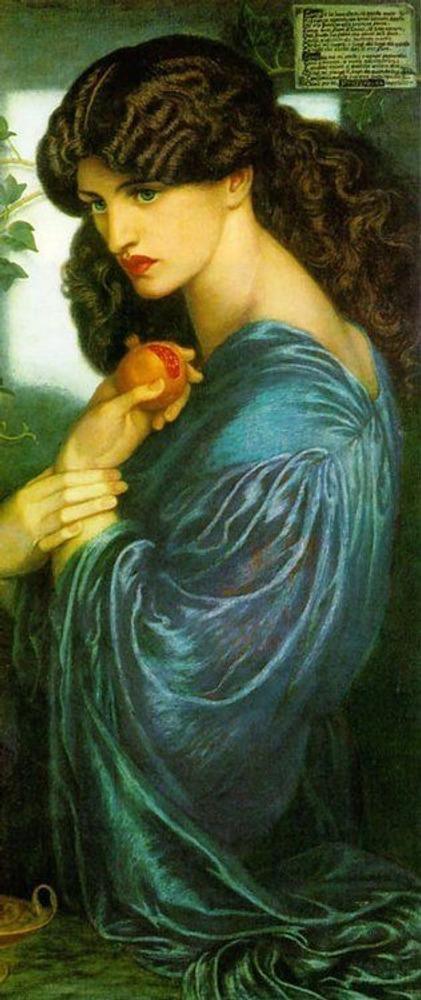 Фото. 17. Д.Г. Россетти. Прозерпина. 1877. Холст, масло. 125,1x61см. Галерея Тейт. Лондон.