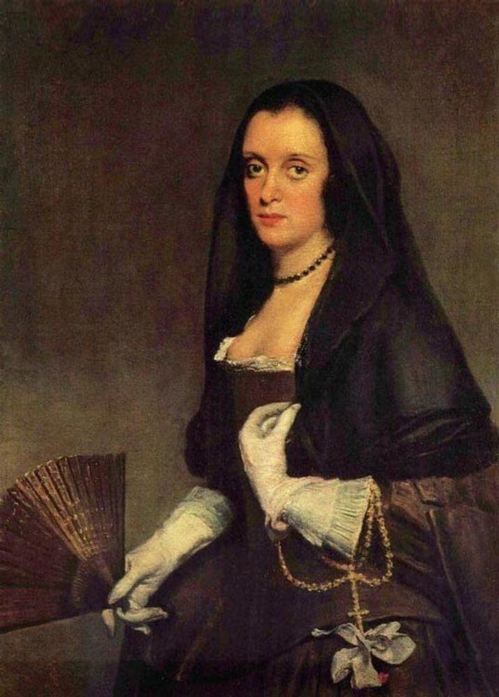 Фото. 16. Диего Веласкес. Портрет дамы с веером. 1648. Холст, масло. 93х73 см. Собрание Уоллес. Лондон.