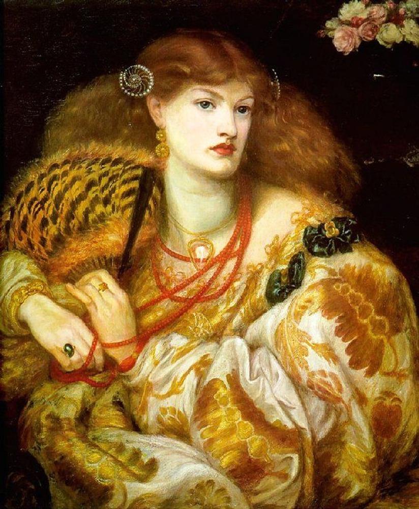 Фото. 20. Д. Г. Россетти. Монна Ванна.1866. Холст, масло. 146х89см. Галерея Тейт. Лондон.