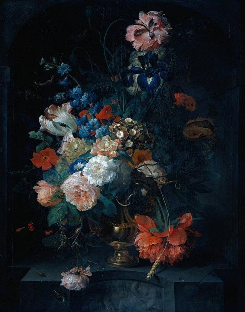 Фото. 25. Конрат Ропель. Ваза с цветами. 1721. Дерево, масло. 66,5х52,5 см. Государственный художественный музей. Амстердам.