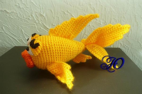 Фото. Вязаная рыбка. Автор работы - Corviny