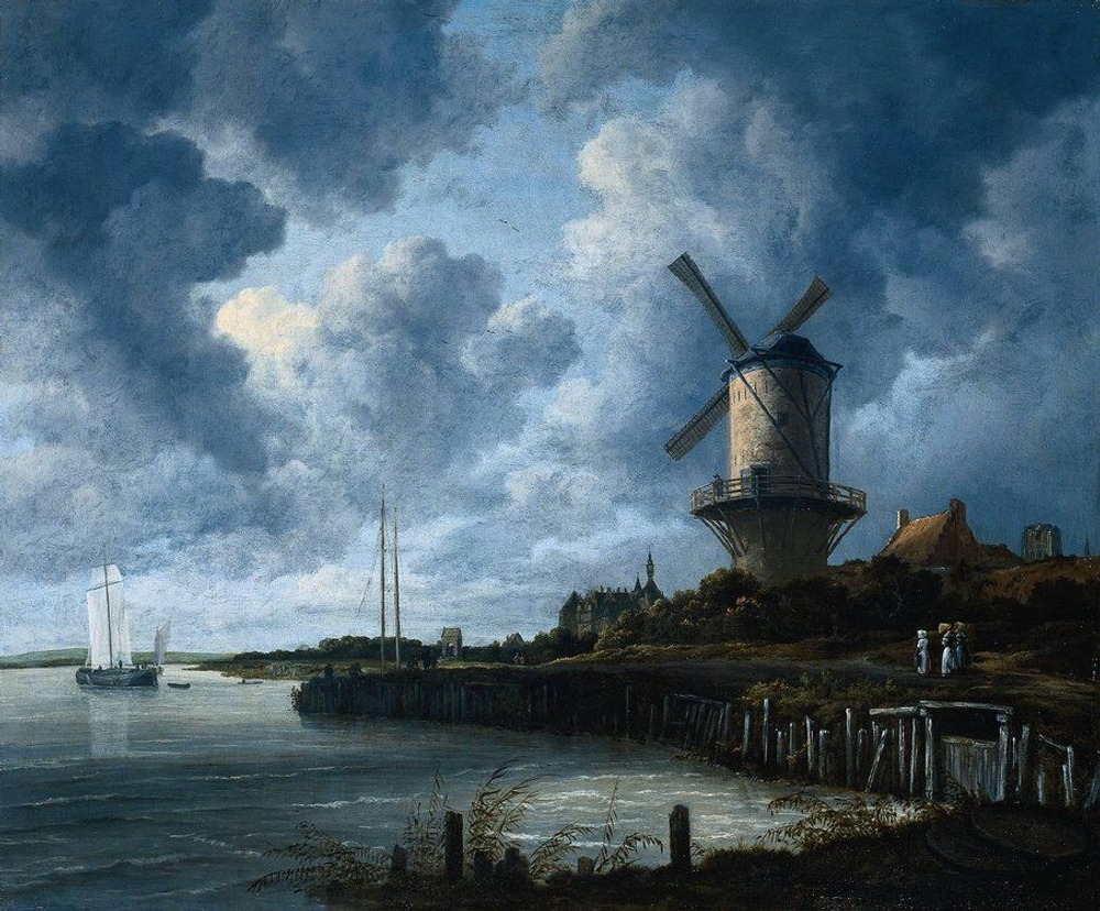 Фото. 34. Якоб ван Рейсдаль. Мельница. 1670. Холст, масло. 83х101 см. Королевский музей. Амстердам.