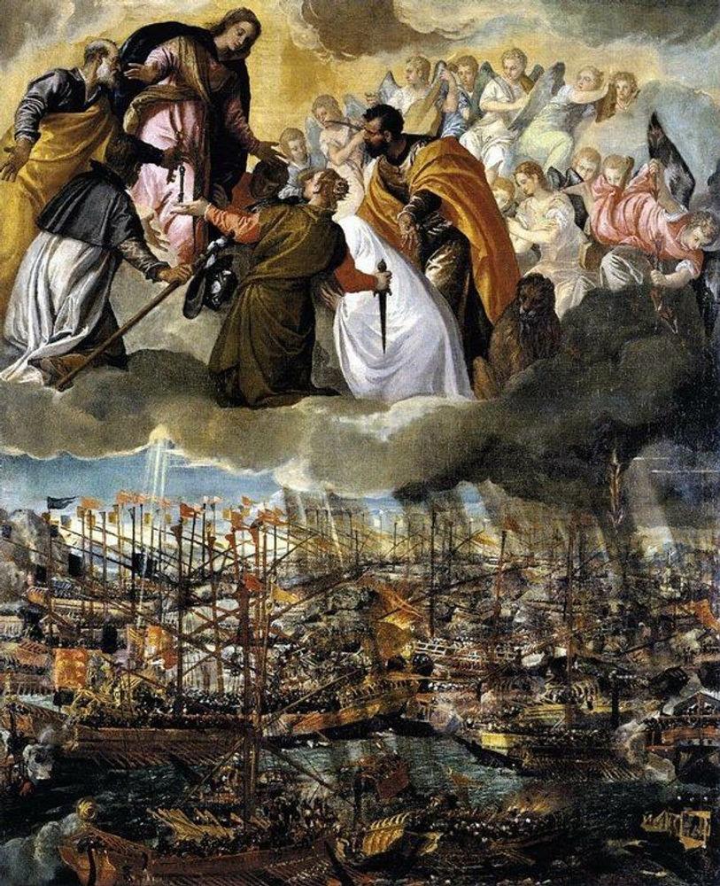 Фото. 35. Веронезе. Битва при Леранто. 1572. Холст, масло. 169х137см. Галерея Академии. Венеция.