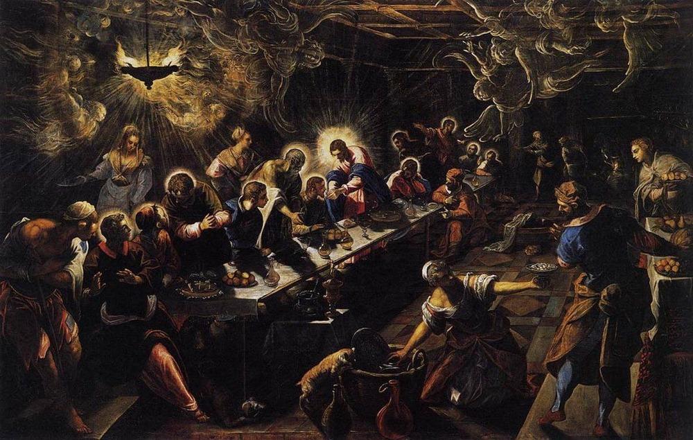 Фото. 22. Тинторетто. Тайная вечеря. 1592-1594. 365х568см. Церковь Сан- Джорджо Маджоре. Венеция.