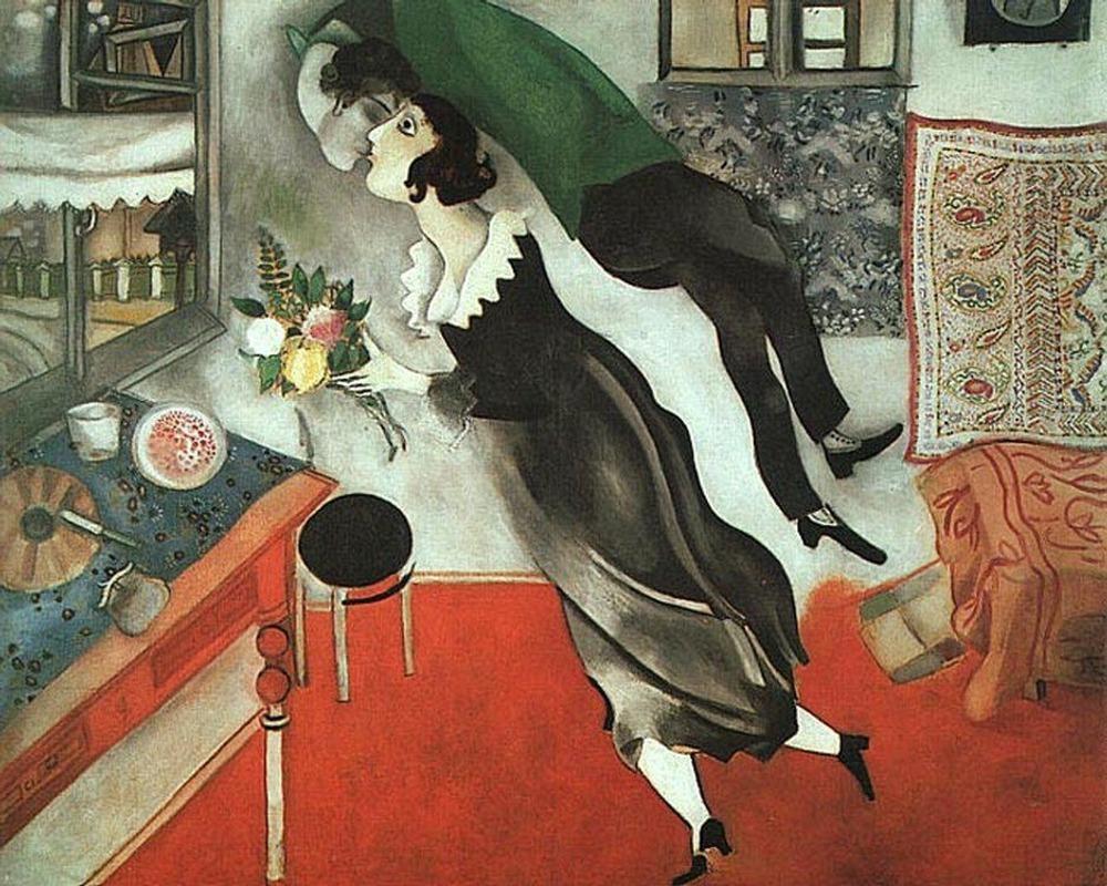 Фото. 31. Марк Шагал. День рождения. 1915. Холст, масло. Музей современного искусства. Нью-Йорк.