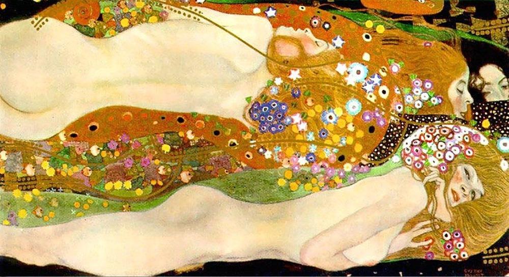 Фото. 32. Густав Климт. Водяные змеи II (Подруги). 1904-1907. Фрагмент. Холст, масло. 80х145 см. Частная коллекция.