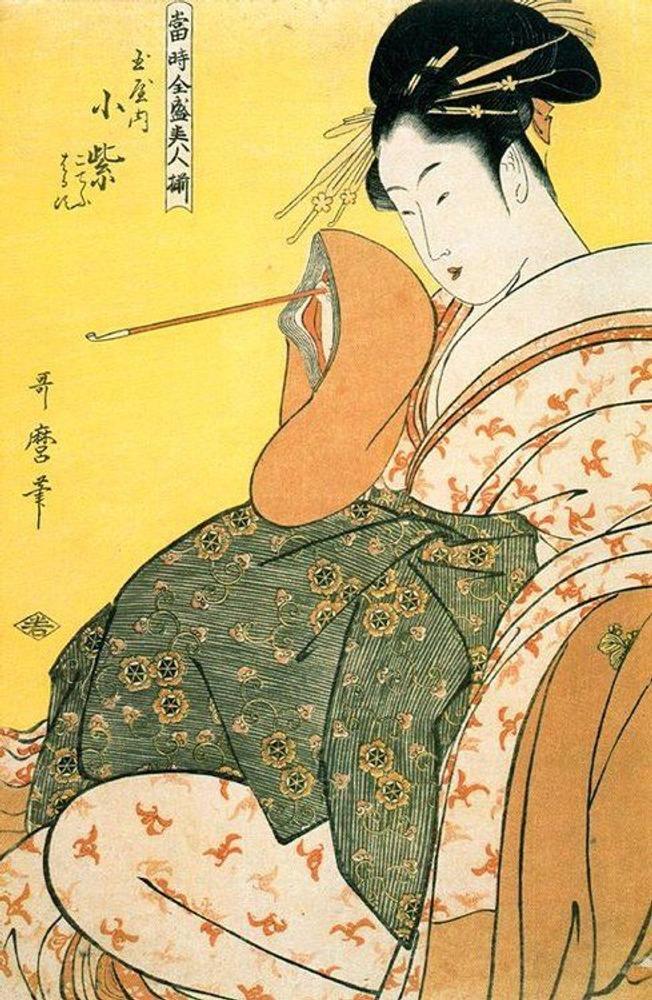Фото. 50. Китагава Утамаро. Красавица. Ок. 1799. Бумага, водяные краски.