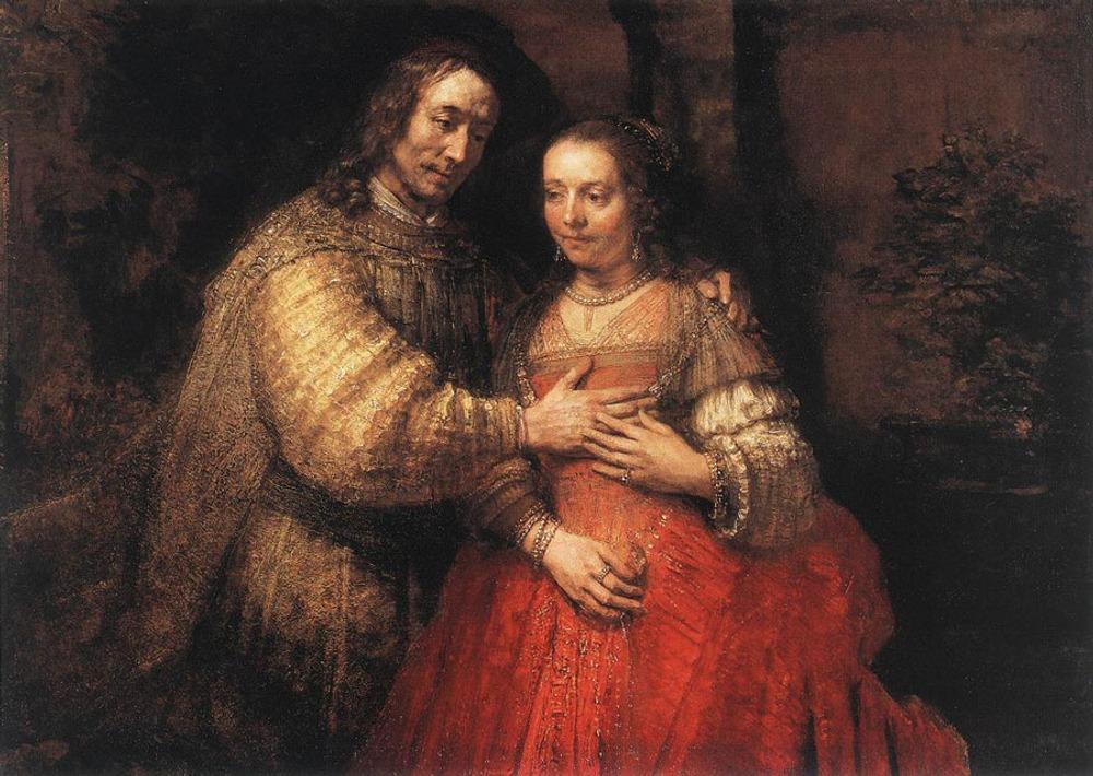 """Фото. 19. Рембрандт """"Еврейская невеста"""". 1668."""