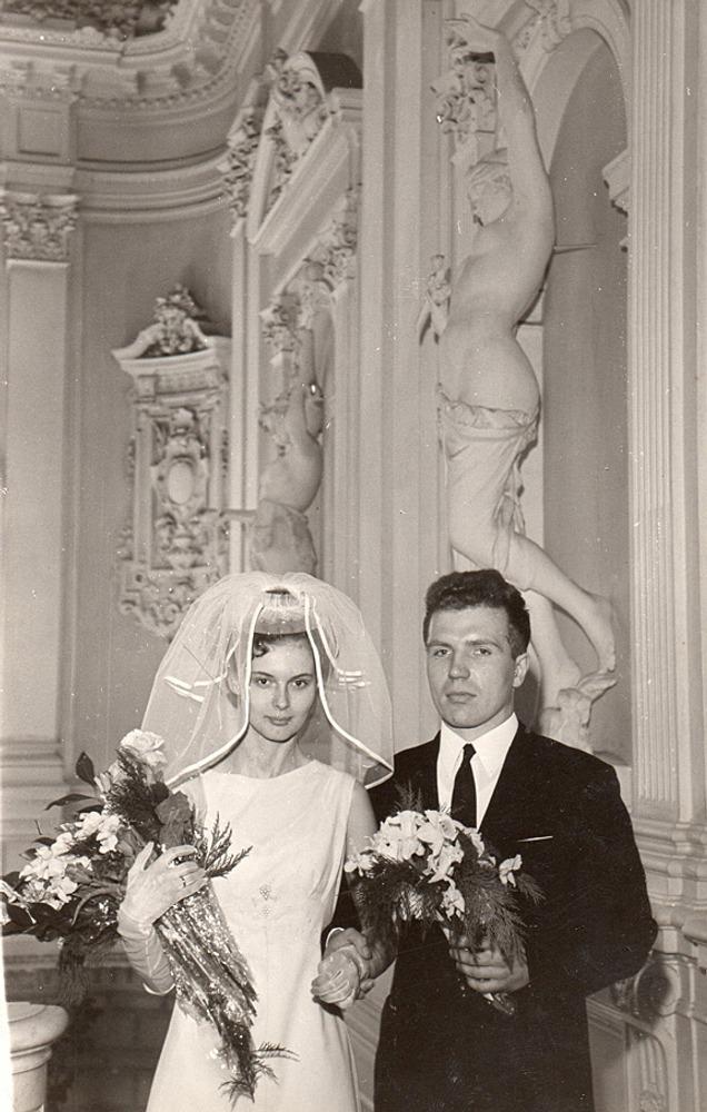 Фото. 16. Свадебная пара. 60-гг. XX в., Ленинград.