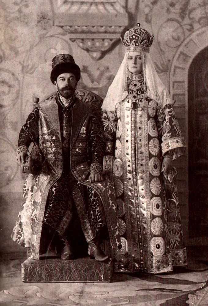 Фото. 45. Император Николай II и Императрица Александра Фёдоровна.