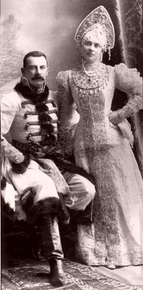 Фото. 50. Феликс Феликсович Юсупов (старший), граф Сумароков-Эльстон и княгиня Зинаида Юсупова.