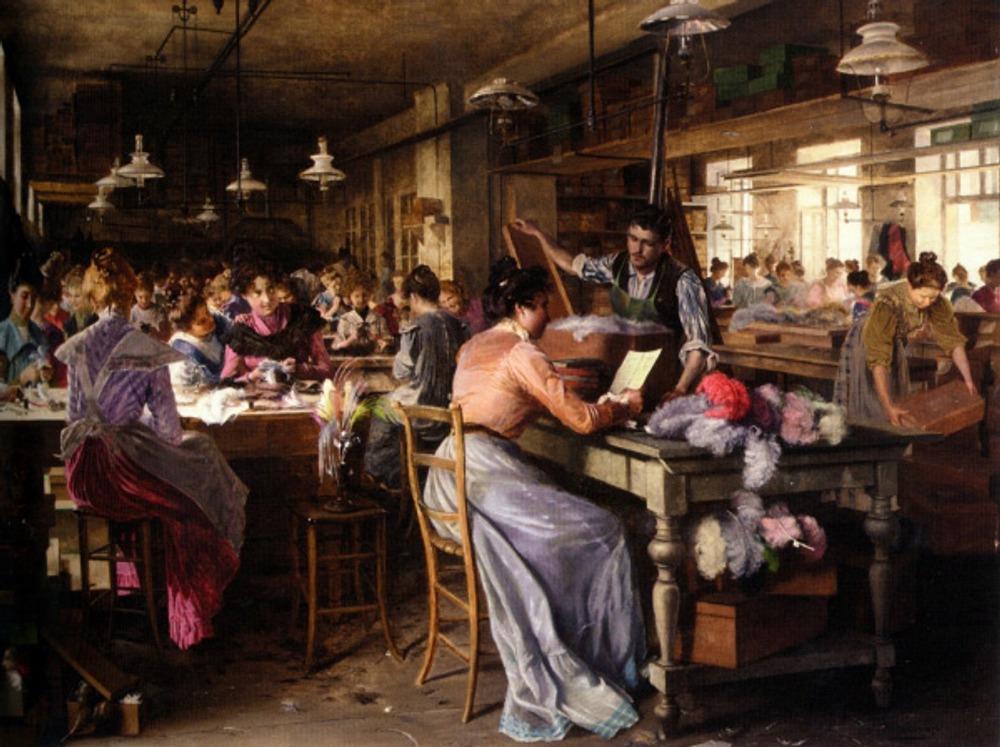 "Johann Hamza ""The feather makers"" 1902"