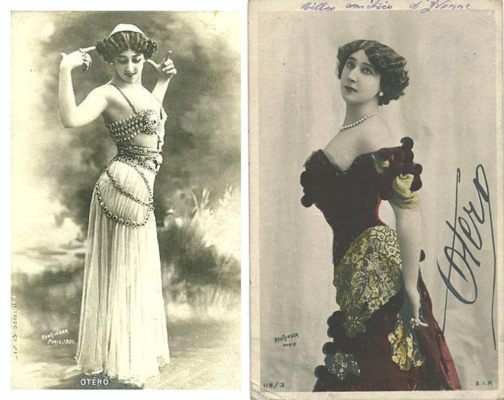 Почтовые открытки с изображением Каролины Отеро, ок. 1905 г.
