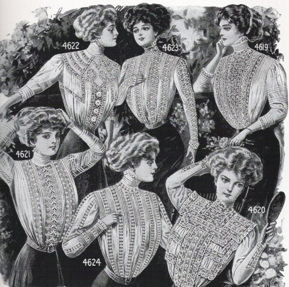 Женские блузки в каталоге посылторга. Нью-Йорк, 1909 г.