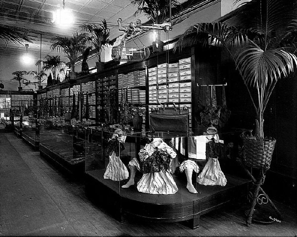 Men's Accessories Department in Early 1919s