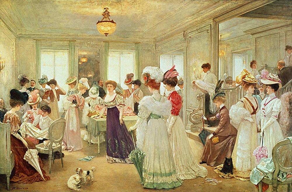 """Henry Gervex """"Cinq Heures Chez le Couturier Paquin"""", 1906"""