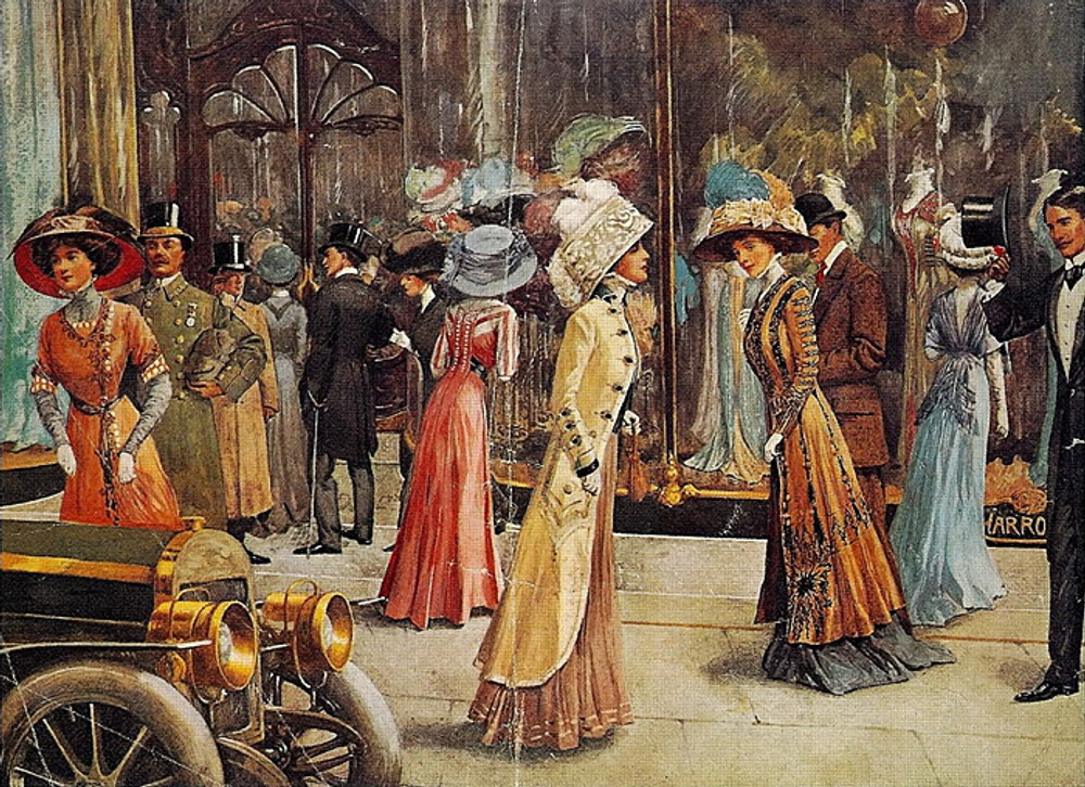 """""""Londoners At Harrods"""", 1909"""