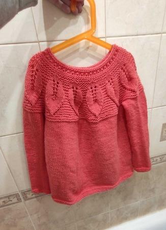 Фото. Детский пуловер.   Автор работы - Miloria