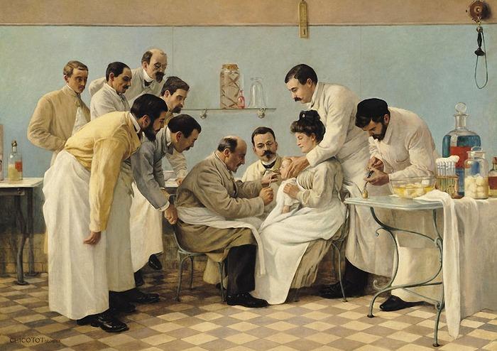 Фото. Georges Chicotot (French, 1868-1921) Le tubage 1904 г. Musee de l'Assistance Publique-Hopitaux de Paris