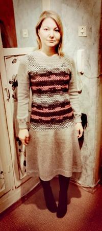 Фото. Платье из ангоры голд.   Автор работы - ф_л_о_р_а