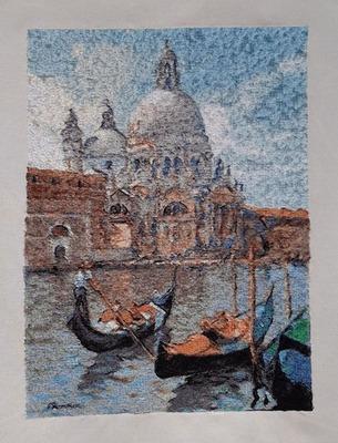 Фото. Вышитая Венеция.  Автор работы - wersik